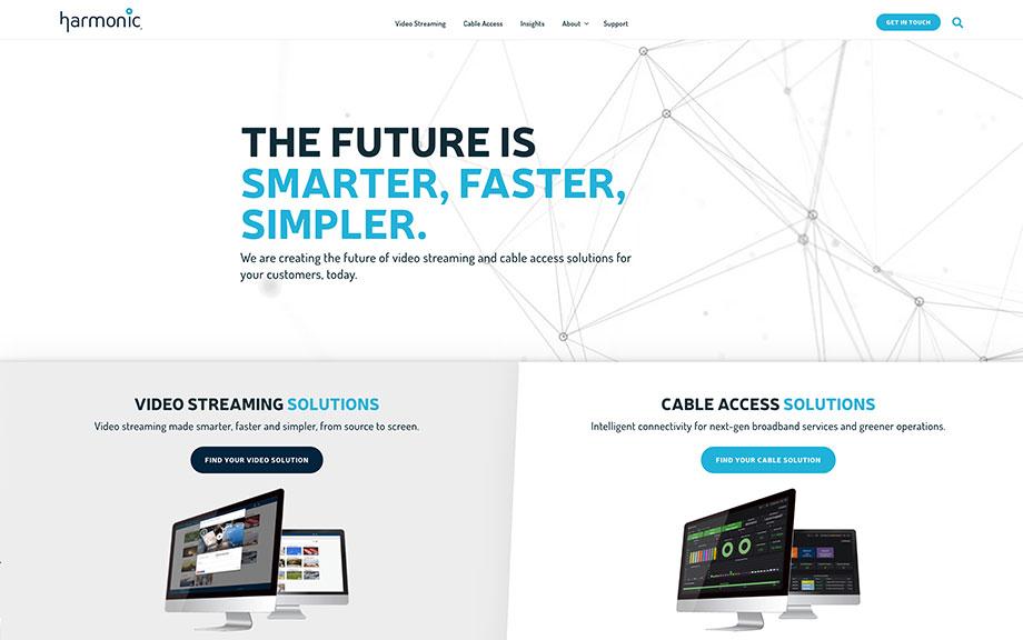 Harmonic Website Redesign