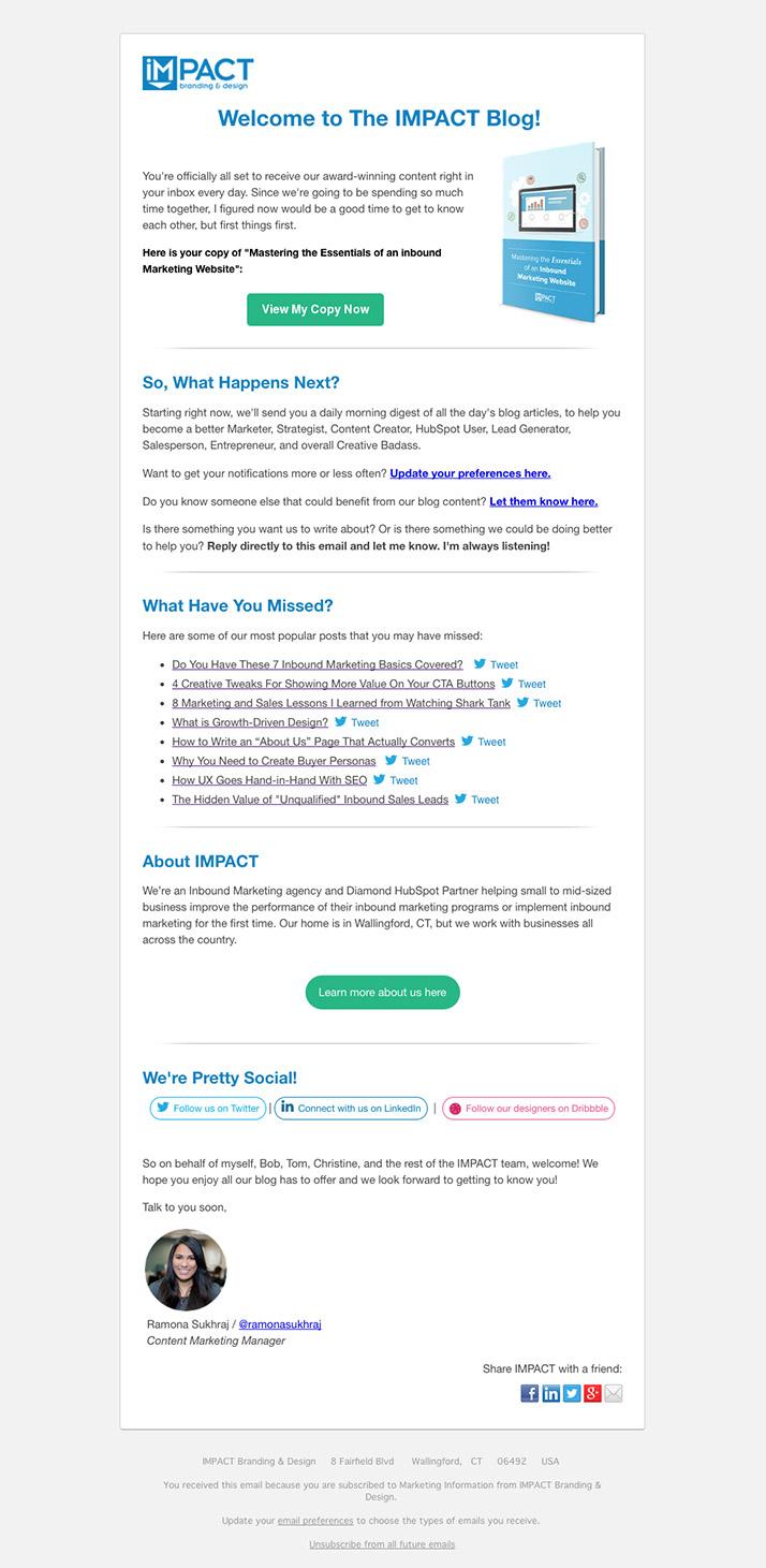 Blog Lead Magnet Email